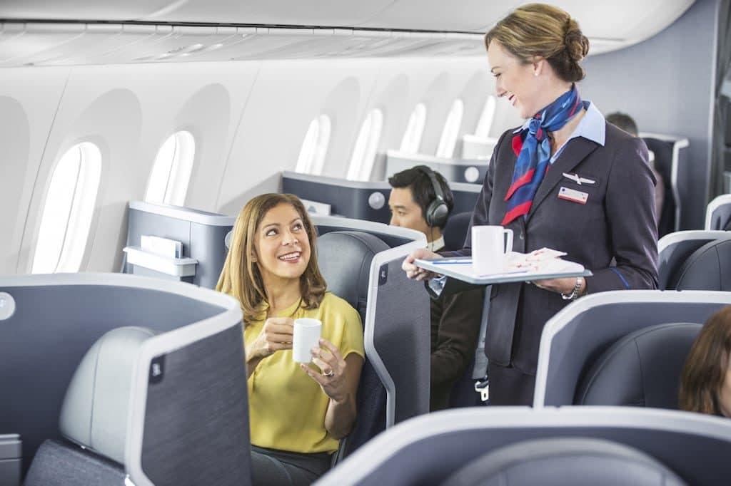 American-Airlines-Flight-Attendants-serving-beverages